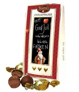 God Jul Fröken - Lyxiga chokladpraliner