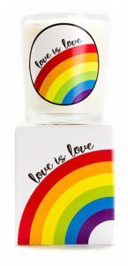 Budskapsljus Love is love från Klinta
