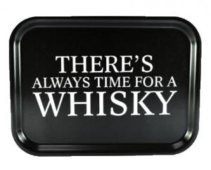 Bricka Time for a whisky, 27x20cm