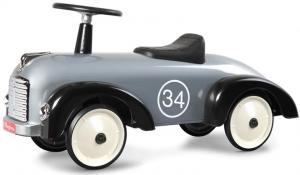 Gåbil i retromodell, silver/svart - Baghera
