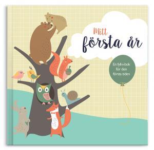 Fyll-i boken Mitt Första År en en perfekt present till de nyfödda barnet eller till dopet.
