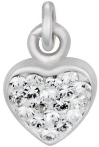 Silverarmband med hjärta, 17cm