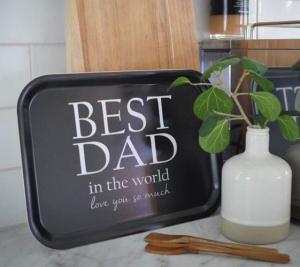 Bricka Best Dad, 27x20cm