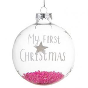 Julgranskula My first Christmas, rosa