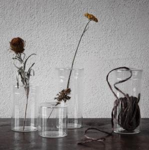 Glasvas med lock - Ernst Kirchsteiger