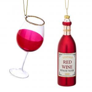 Julgranskulor Rödvin