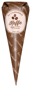 Kaffekola doppad i vit choklad, chokladpraliner från Åre Chokladfabrik