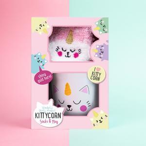 Kittycorn Presentset - Mugg och Strumpor