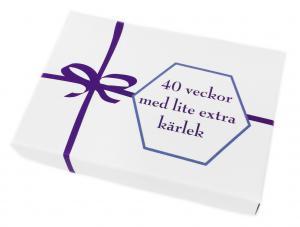 40 veckor med lite extra kärlek, presentask med kort innehållande romantiska uppmaningar