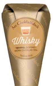 Whiskytryffel doppad i mörk choklad, chokladpraliner från Åre Chokladfabrik
