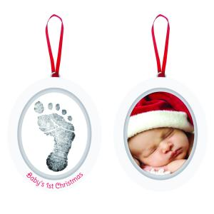 Fotoram/Hand-, fotavtryck Jul Baby's 1st Christmas