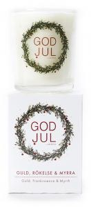 Massageljus/Doftljus Juldoft (Guld, rökelse & myrra) från Klinta