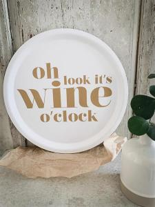 Bricka Wine o'clock, rund 31cm