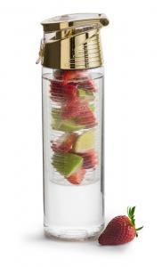 Fresh flaska med fruktkolv, guld från Sagaform