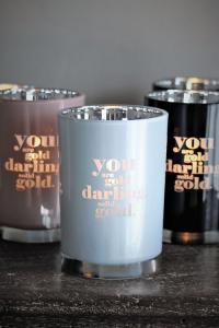Ljuslykta Solid Gold, från Majas lyktor säljs till förmån för Barncancerfonden