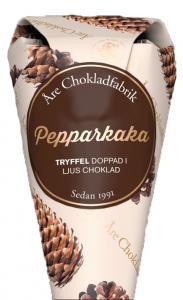 Pepparkaksstryffel doppad i mörk choklad, chokladpraliner från Åre Chokladfabrik