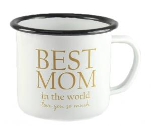 Mugg Best Mom, emaljmugg