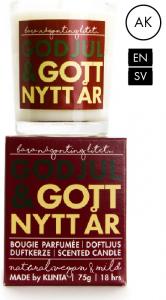 Budskapsljus God Jul & Gott Nytt År från Klinta