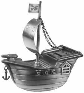 Sparbössa, Piratskepp