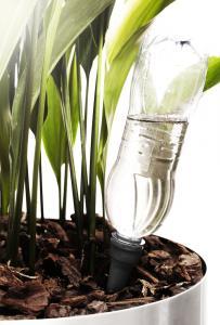 Självbevattnaren från Sagaform hjälper dig att hålla krukväxterna vid liv