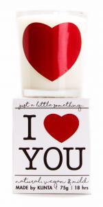 Budskapsljus I heart you från Klinta