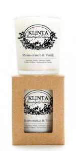 Massageljus/Doftljus Mousserande & Vanilj från Klinta