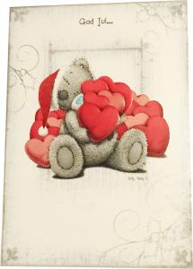 Kort, God Jul (Nalle håller i hjärtan)