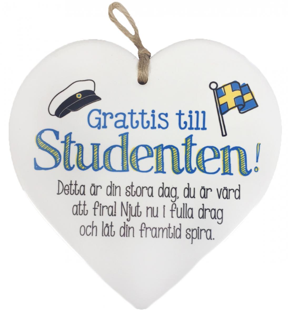 grattis på din studentdag Hjärta Studenten | Presenteriet.se grattis på din studentdag