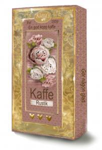Kaffe Rustik (Rosa blommor)