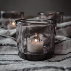 Ljuslykta Omtanke , från Majas lyktor säljs till förmån för Barncancerfonden