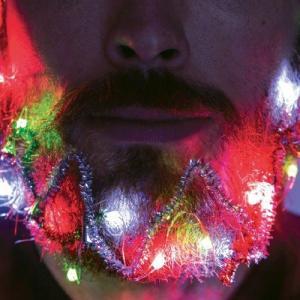 Julljus och glitter till skägget