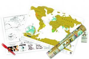 Skrapkarta - skrapa fram de länder du har besökt