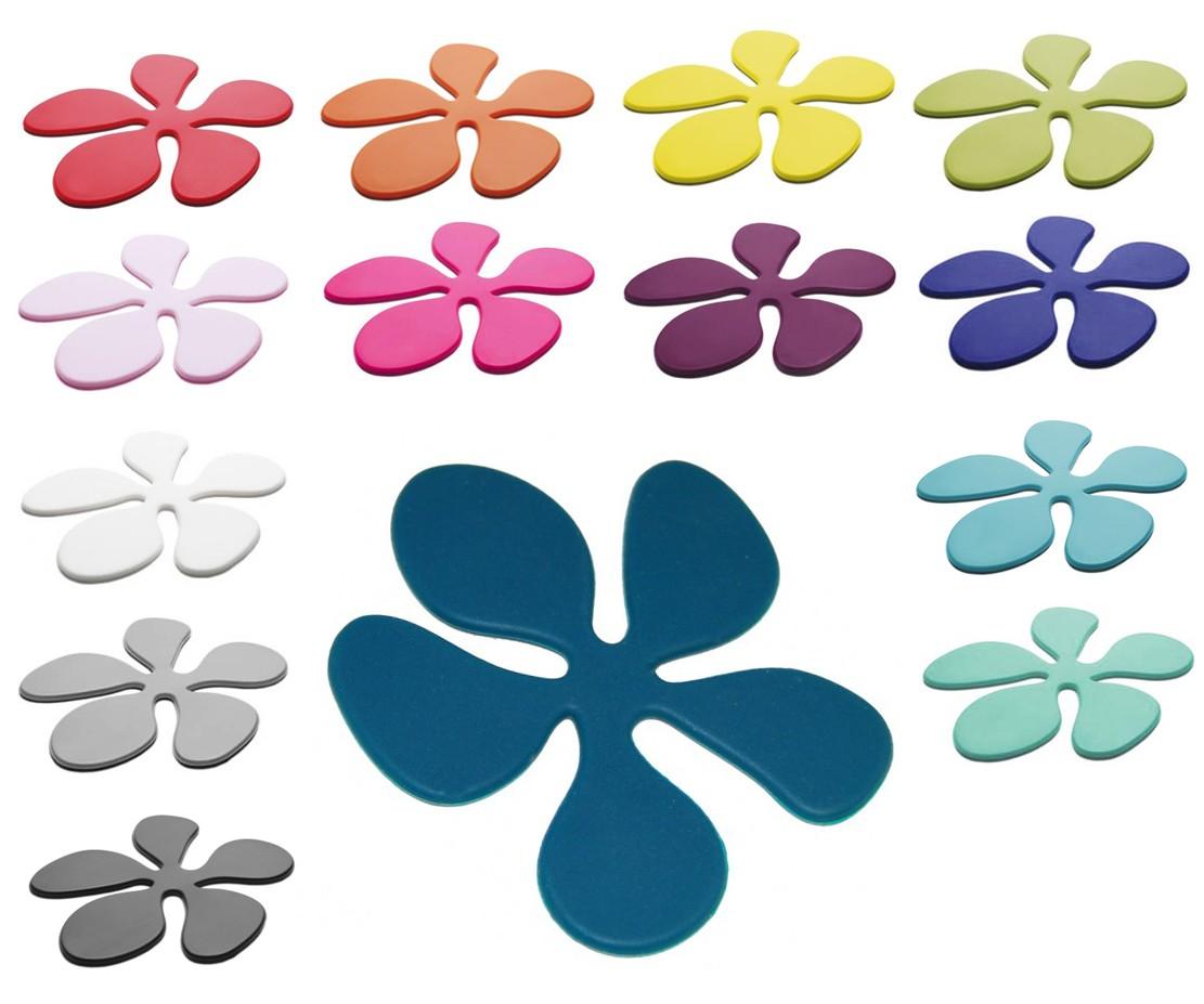 Glasunderlägg Blomma i silikon - KG Design (Gul)