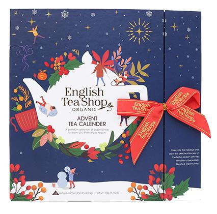 *FÖRBOKNING* Te-Adventskalender Ekologisk (Blå förp.) - English Tea Shop • Pryloteket