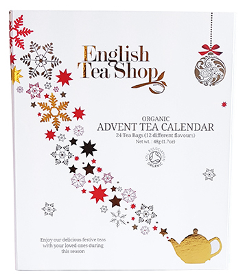 *FÖRBOKNING* Te-Adventskalender Ekologisk (Vit förp.) - English Tea Shop • Pryloteket