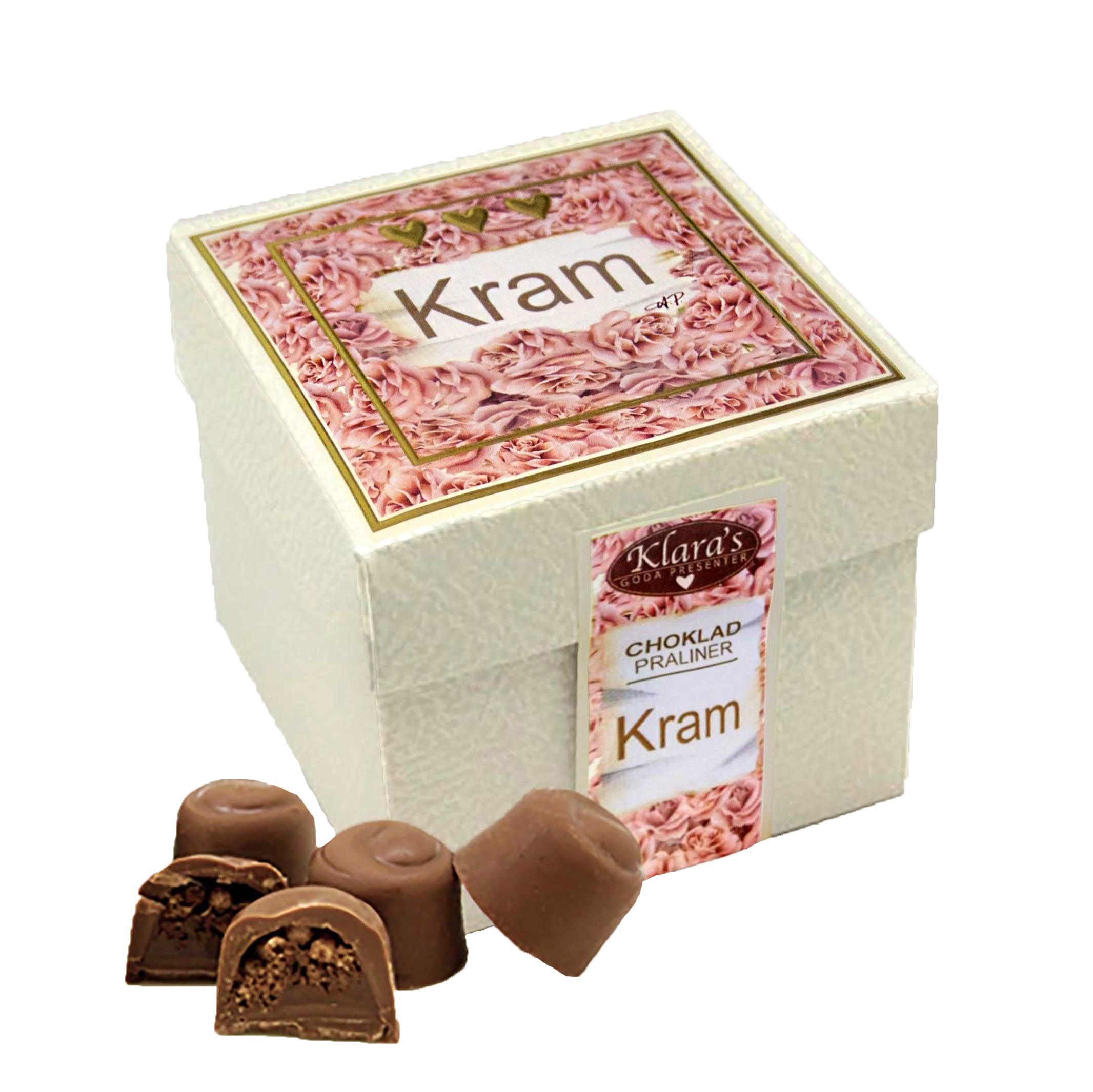 Kram - Lyxiga chokladpraliner i presentbox • Pryloteket