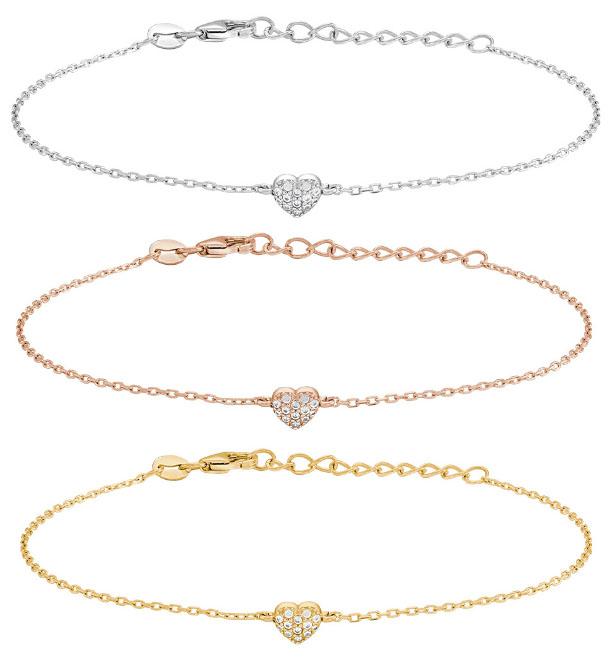 Armband Almanor (hjärta med stenar) - Nordahl Jewellery (Roséguld)