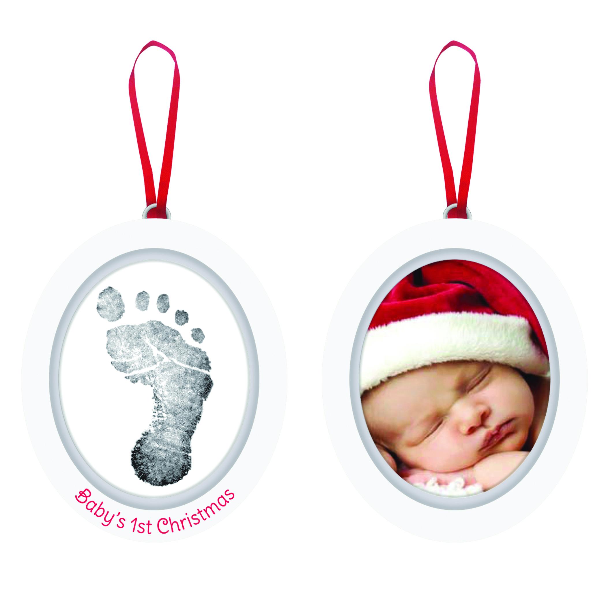 """Fotoram/Hand-, fotavtryck Jul """"""""Baby's 1st Christmas"""""""""""
