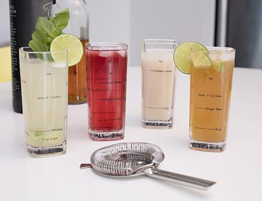 Glas för en bartender (höga) - 4-pack • Pryloteket