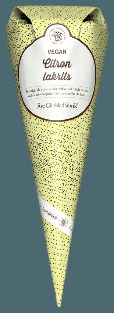 Lakrits/citrontryffel (Vegan)- Choklad från Åre Chokladfabrik • Pryloteket
