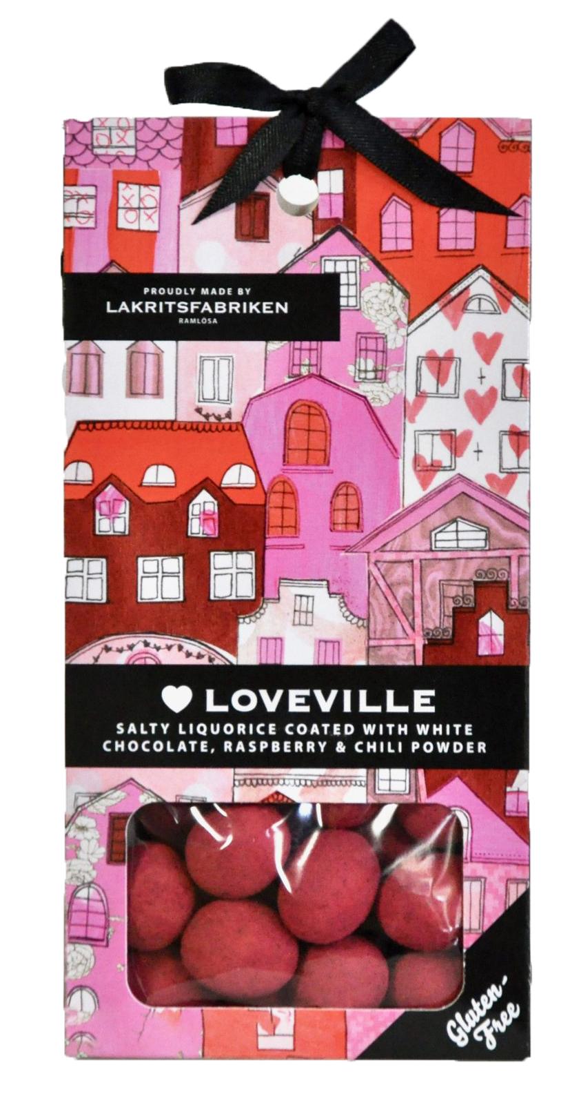 Loveville - lyxig chokladdragerad lakrits