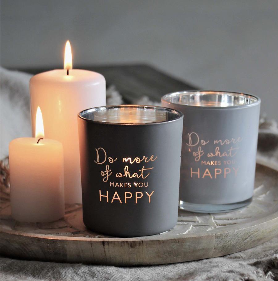 Ljuslykta Do more of what makes you happy - Majas lyktor/ Barncancerfonden (Vit) • Pryloteket