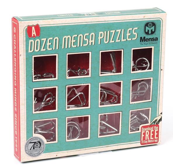Mensa IQ Pussel metall (12 i 1)