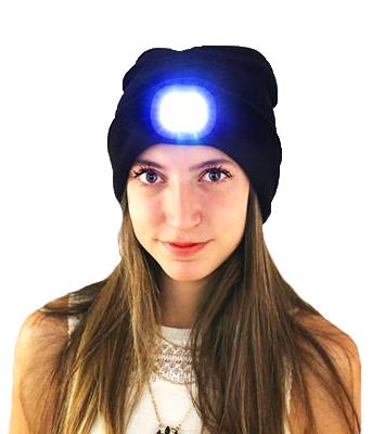 Mössa med LED-lampa • Pryloteket