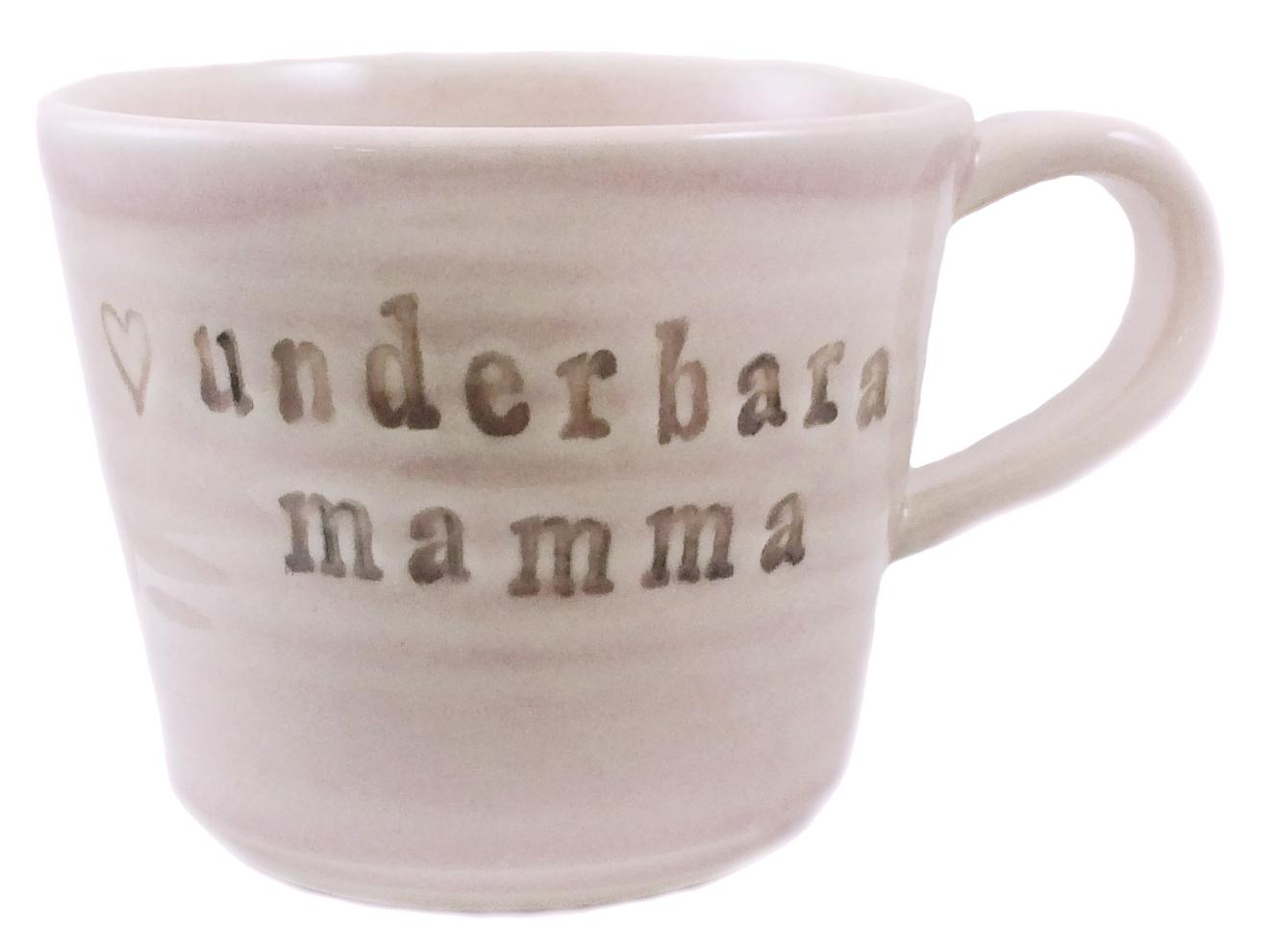 Mugg Underbara Mamma, rosa - Puss Puss Company • Pryloteket