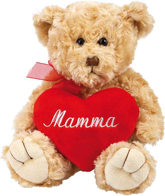 Nalle med Mamma-hjärta • Pryloteket