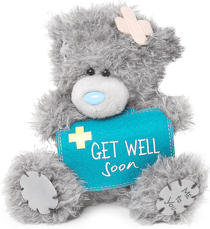"Nalle ""Get well soon"", 13cm - Me to you"