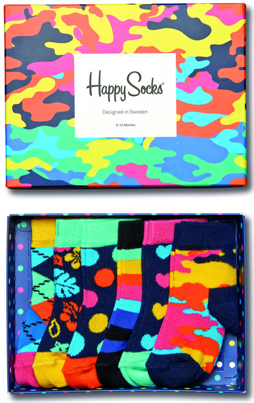 Sockar baby & barn 6-par 0 till 12 månader - Happy Socks