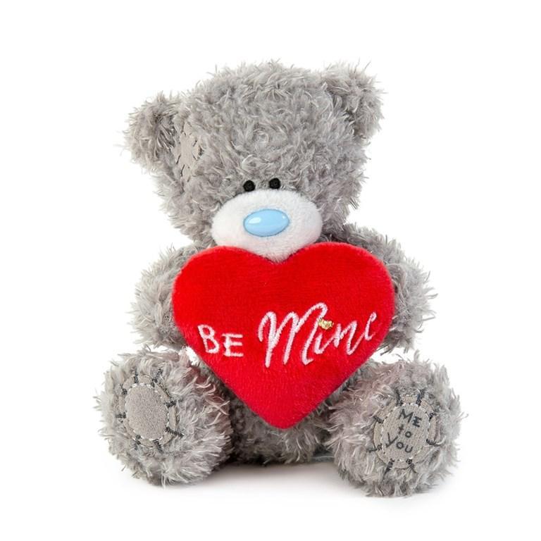 "Nalle med rött hjärta ""Be Mine"" , 10cm - Me to you • Pryloteket"