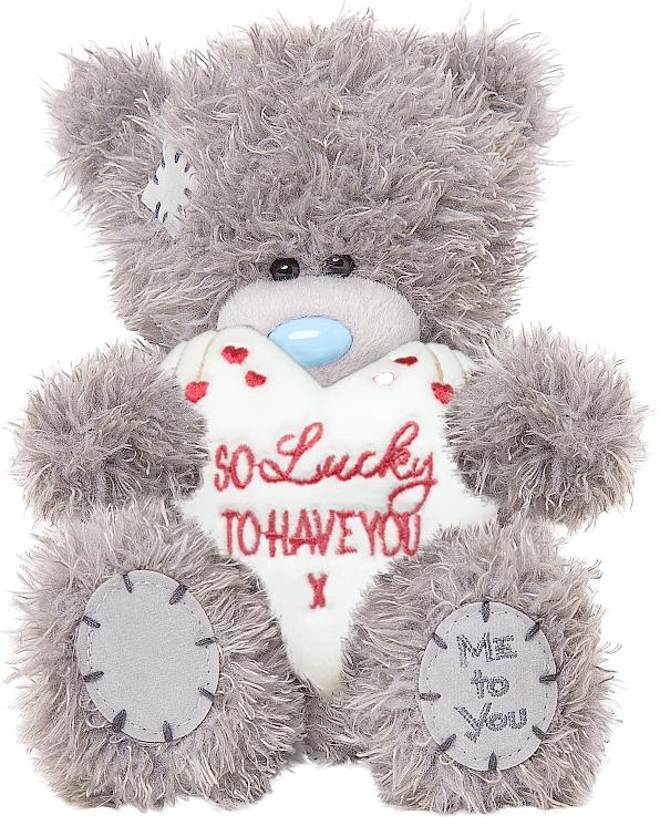 Nalle So lucky to have you på vitt hjärta, 15cm - Me To You